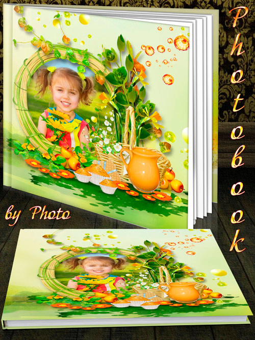 Children book template psd - Our summer