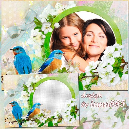 Spring frame - The singing of birds gives us spring