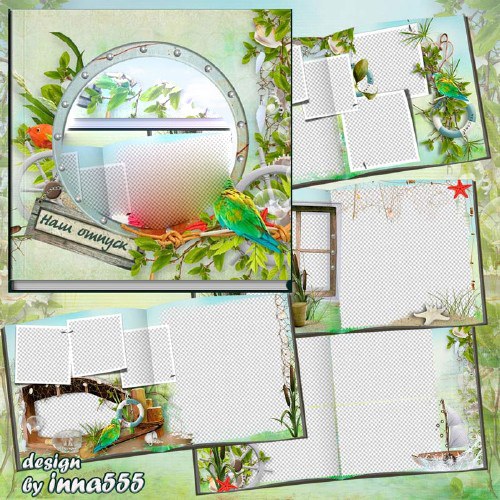 Marine photobook template psd - Our vacation rental