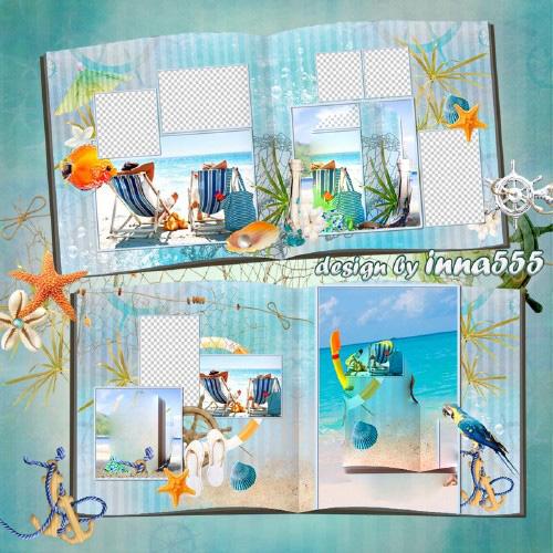 Marine photobook template psd - Cote d'Azur