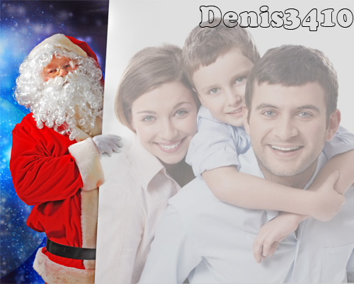 PSD Frame for Photoshop - Santa Claus