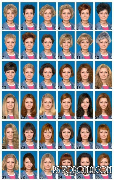PSD Women Hairstyle Collection