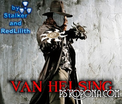 PSD Template For Photoshop - Van Helsing