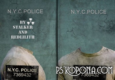 PSD Template For Photoshop - Prisoner