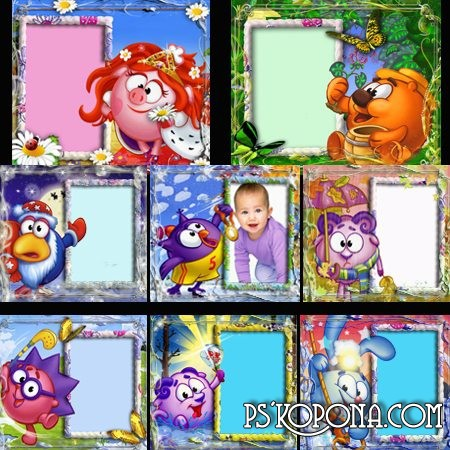 Frames for kids photo - Smeshariki