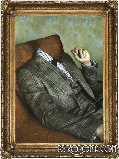 Шаблон для фото - Мужской портрет