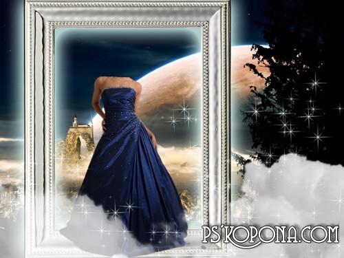 Шаблон для фото - Дама из сказки