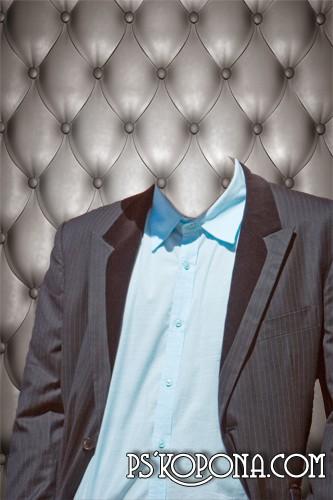 Мужской шаблон для фото - В серых тонах