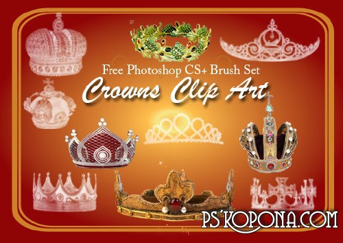 24 Crown Clip Art Photoshop Brushes