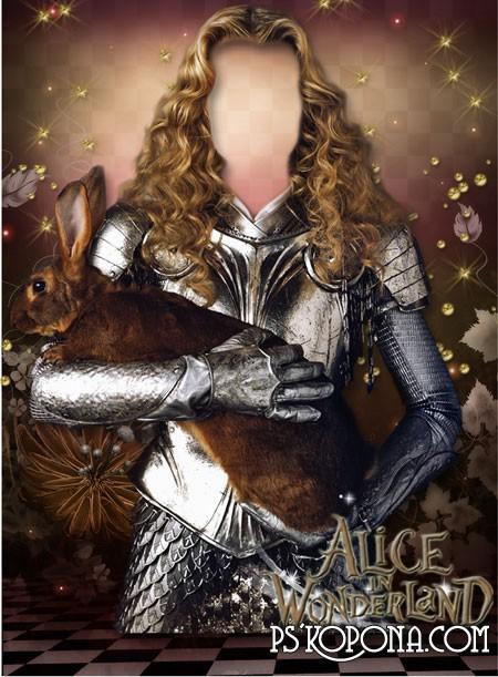 Шаблон для фото - Алиса в стране чудес