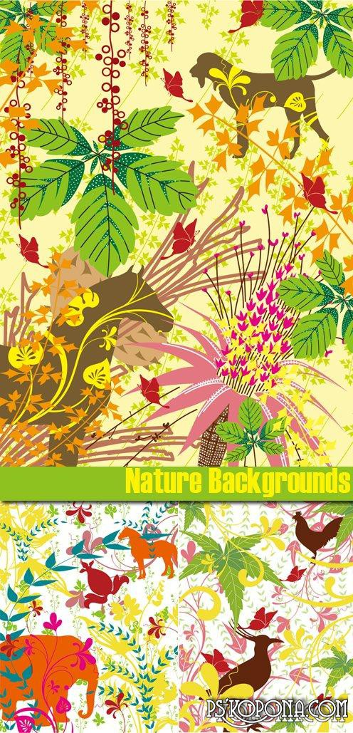 Nature Backgrounds EPS Vector