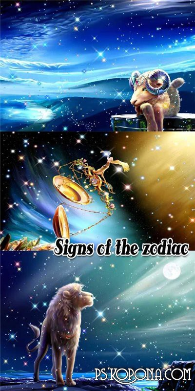 Signs of the zodiac - PSD
