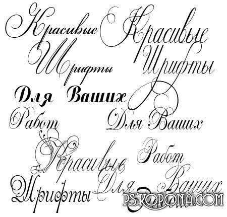 Шрифты коллекция