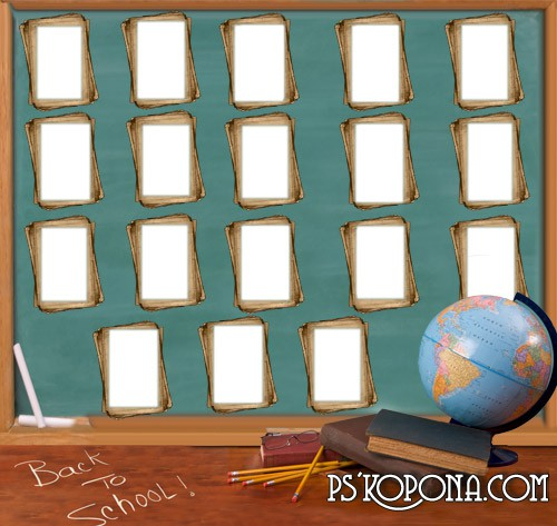School vignette free psd file 4961x4689 px free download