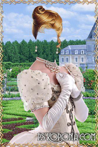 Шаблон для фотошоп – Молодая принцесса