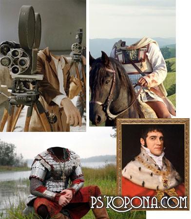HQ Men historical tempates  for Photoshop