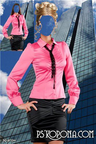 Женский шаблон для фотошопа – Предпринимательница