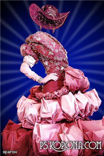 Женский шаблон для фотошоп – Нарядное платье