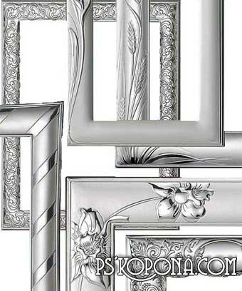 Рамки для фото (серебро) / Frameworks for photo (silver)