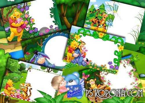 Frame Winnie the Pooh and his friends free download