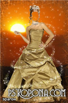 Женский шаблон для фотошопа – Волшебство заката
