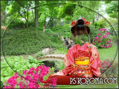 Шаблон для фотошопа- Японка