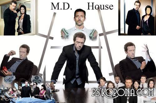 Шаблоны для фотошопа «Доктор Хаус и все, все, все...»