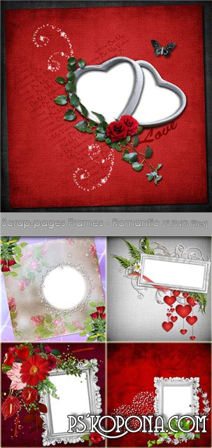 Scrap-pages Frames - Romantic