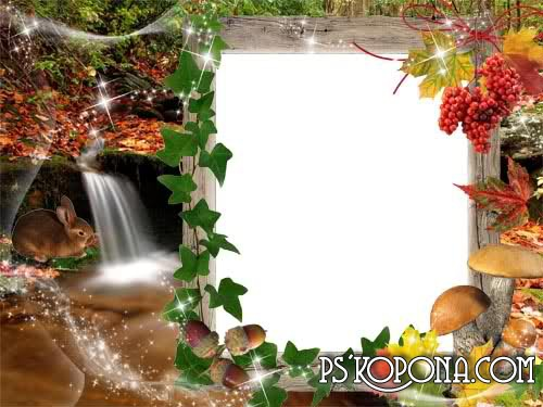 Autumn free psd Frame for photo download – Autumn by the Creek