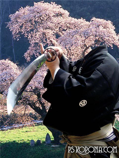 Шаблон для Photoshop - Samurai