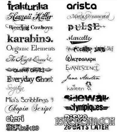 Fonts for Photoshop, download, Fonts for Adobe Photoshop