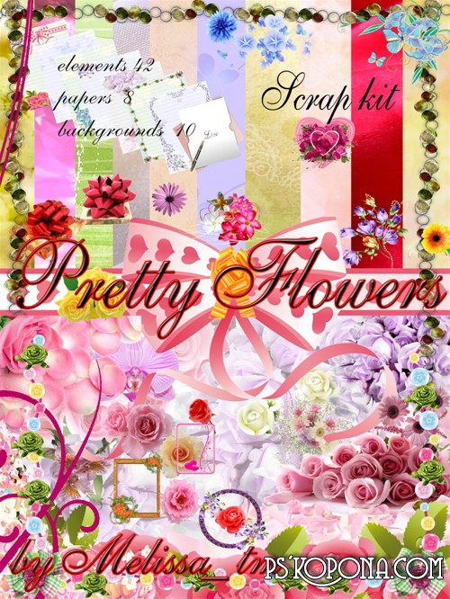 Scrap Kit Pretty Flowers
