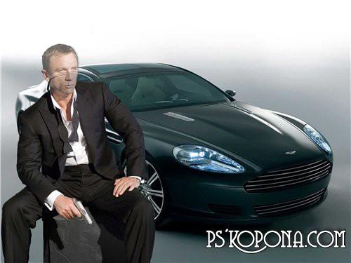 Шаблон для Photoshop - Bond