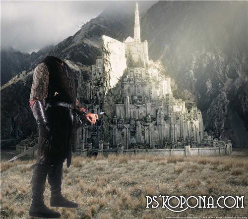 Шаблон для Photoshop - Арагорн
