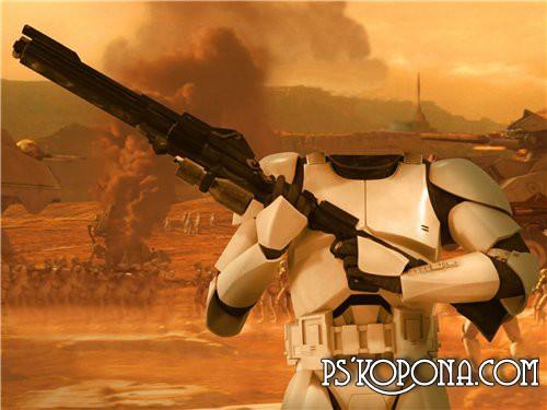 Шаблон для Photoshop - Имперский солдат