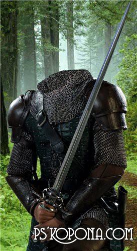 Шаблон для Photoshop - Рыцарь