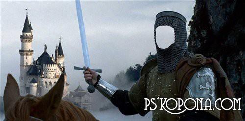 Шаблон для Фотошоп -Рыцарь на коне