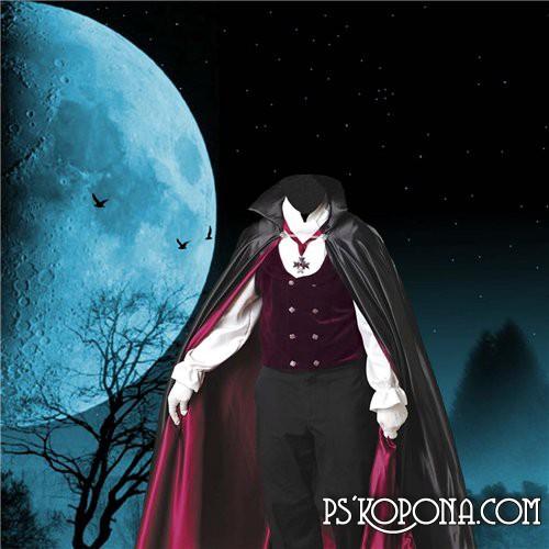 Шаблон для Фотошоп  Дракула