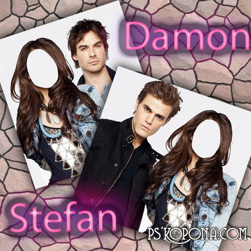 Female templates for photo - Damon and Stefan?