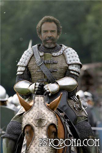 Шаблон для Фотошоп Рыцарь на коне