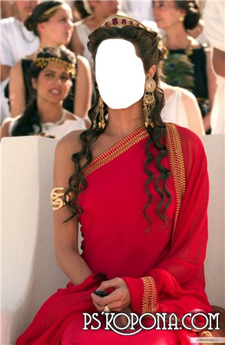 Шаблон для Фотошоп  Женский Греческая Царица
