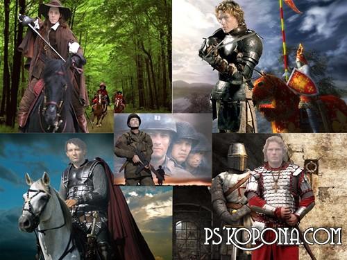 мужские шаблоны для фотошопа:Исторические хроники.