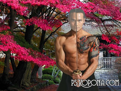 мужские шаблоны для фотошопа:Якудза.