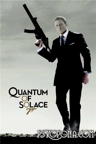 Шаблон для Фотошоп  Агент 007