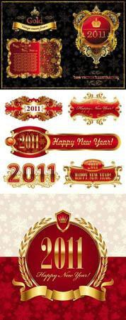 Stock vector - Christmas Labels 2011