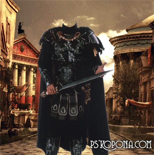 Шаблон для Фотошоп  Римский солдат