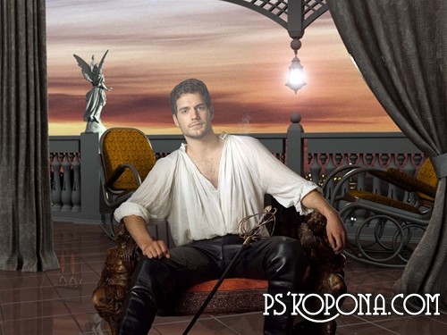 мужской шаблон для фотошоп: Испанец.