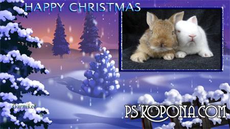 Christmas frame PSD