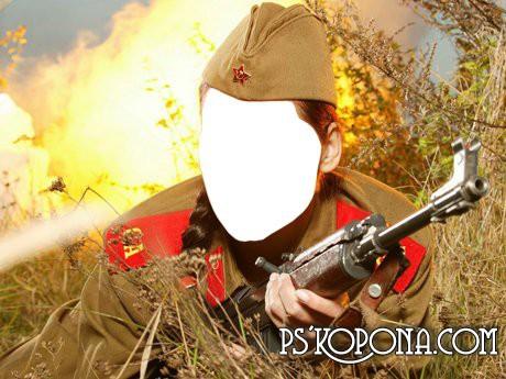 Шаблон для Фотошопа - Солдатка