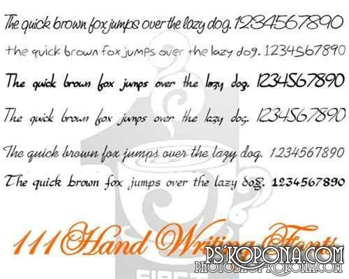 111 Hand Writing Fonts